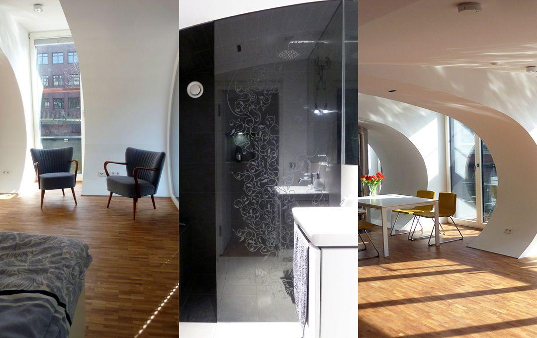 hausboot schwan hammerbrook home. Black Bedroom Furniture Sets. Home Design Ideas